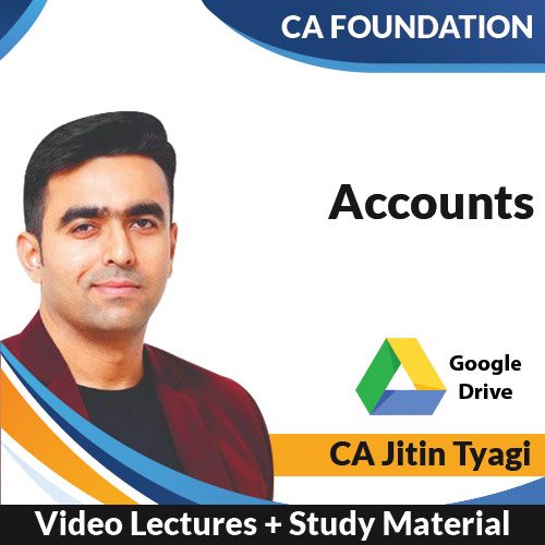 CA Foundation Accounts Video Lectures by CA Jitin Tyagi (Download)